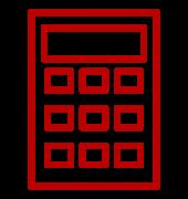 symbole-de-la-calculatrice-rouge
